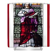 Saint John The Evangelist Stained Glass Window Shower Curtain