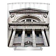 Saint Joseph Du Mont Royal Facade Shower Curtain by Valentino Visentini