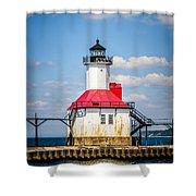Saint Joseph Lighthouse Picture Shower Curtain by Paul Velgos