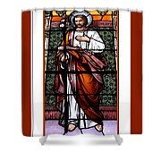 Saint Joseph  Stained Glass Window Shower Curtain by Rose Santuci-Sofranko