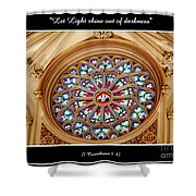 Saint Josephs Cathedral Stained Glass Window Buffalo New York Shower Curtain