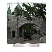 Saint Louis Gate In Ramparts Of Quebec City Shower Curtain
