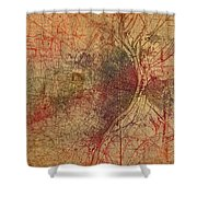 Saint Louis Missouri Street Map Schematic Watercolor On Old Parchment From 1903 Shower Curtain
