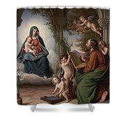 Saint Luke Shower Curtain