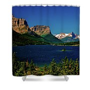 Saint Mary Lake And Wild Goose Island Shower Curtain