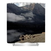 Saint Mary Lake East Glacier Shower Curtain