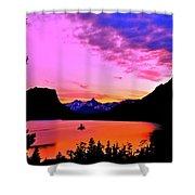 Saint Mary Lake Twilight Shower Curtain