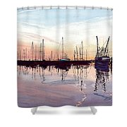 Saint Marys Marina   Shadows Light And Fire Shower Curtain