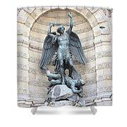 Saint Michael The Archangel In Paris Shower Curtain