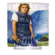 Saint Michael The Archangel Shower Curtain