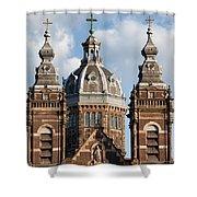 Saint Nicholas Church In Amsterdam Shower Curtain