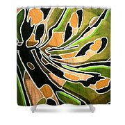 Saint Papilio Polyxenes Study Shower Curtain