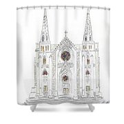 Saint Patrick's Cathedral Shower Curtain