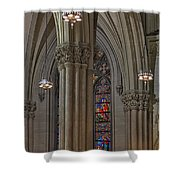 Saint Patrick's Cathedral Stained Glass Window Shower Curtain