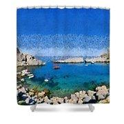 Saint Paul Bay Shower Curtain