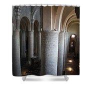 Saint Philibert Church Interior Burgundy Shower Curtain