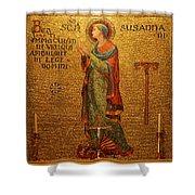 Saint Susanna Altar Shower Curtain