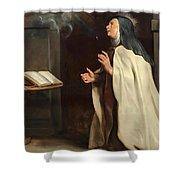 Saint Teresa Of Avila's Vision Of The Holy Spirit Shower Curtain