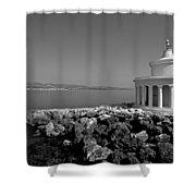 Saint Theodori Lighthouse Shower Curtain