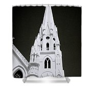 The Surreal Spire Shower Curtain