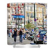 Saint Tropez Stroll Shower Curtain