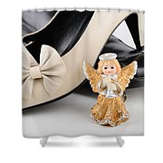Saint Valentine Angel With Two Shoes Shower Curtain