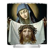 Saint Veronica Shower Curtain by Guido Reni