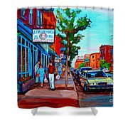 Saint Viateur Bagel Shop Shower Curtain