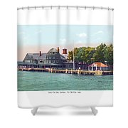 Sainte Claire Flats - Michigan - The Old Club - 1920 Shower Curtain