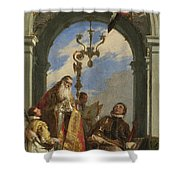 Saints Maximus And Oswald Shower Curtain
