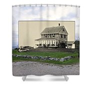 Sakonnet Point In Little Compton Rhode Island Shower Curtain
