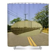 Sakonnet Point Road In Little Compton Rhode Island Shower Curtain