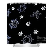 Saks 5th Avenue Snowflakes Shower Curtain