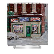 Salaison Ideale Montreal Shower Curtain