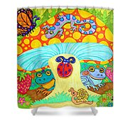 Salamander And Friends Shower Curtain