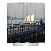 Salem Willows Sailboat Shower Curtain