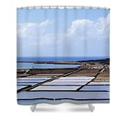 Salinas De Janubio On Lanzarote Shower Curtain