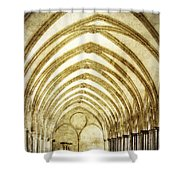 Salisbury Cathedral Cloisters 2 Shower Curtain