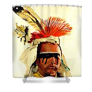 Salish Brave  Shower Curtain