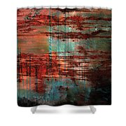 Salivated Flame  Shower Curtain