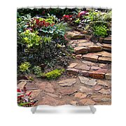 Sally's Garden Shower Curtain by Nancy Harrison