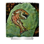 Salmon Fishing By V Lee Shower Curtain
