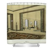 Salon, From Repertoire Of Modern Taste Shower Curtain by Jacques-Emile Ruhlmann