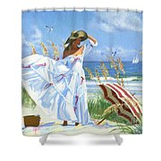 Salt Aire Blues Shower Curtain