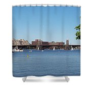 Salt And Pepper Bridge Shower Curtain