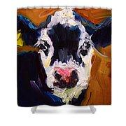 Salt And Pepper Cow 2 Shower Curtain