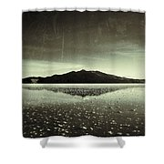 Salt Cloud Reflection Black And White Vintage Shower Curtain