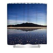 Salt Cloud Reflection Shower Curtain