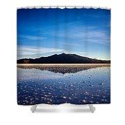 Salt Cloud Reflection Framed Shower Curtain