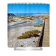 Salt Creek Trail Boardwalk In Death Valley National Park-california  Shower Curtain